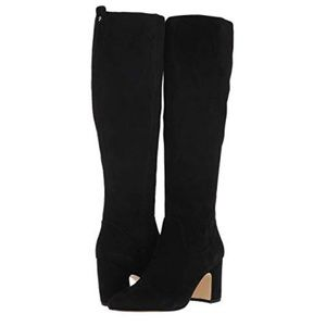 🆕Sam Edelman Black 'hai' Stretch Suede High Boots